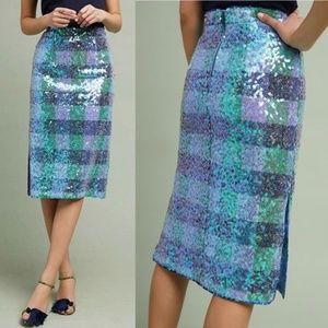 NWT Anthropologie Maeve Sequined Palette Skirt - 8